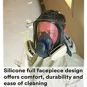 3M Ultimate FX Full Facepiece Reusable Respirator FF-401/89418, Respiratory Protection, Small