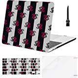 Macbook Pro Case Cute Seamless Pattern Pink Lotus Flowers Macbook Pro 13'(NO CD-ROM,Retina) A1502/A1425 Plastic Case Keyboard Cover & Screen Protector