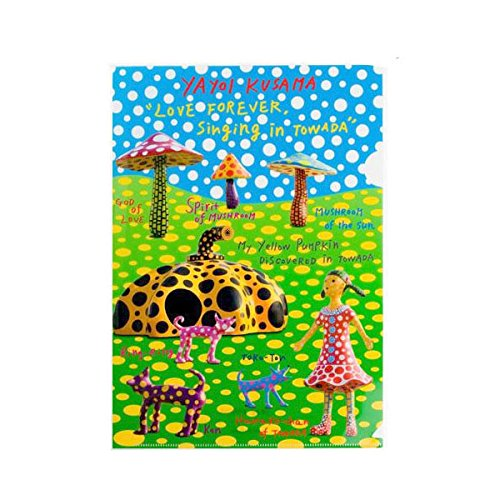 (Yayoi Kusama) 草間彌生 クサマヤヨイ PUMPKIN クリアファイル 十和田A クリアファイル(A4サイズ/カラフル) ドット 水玉 かぼちゃ ステーショナリー