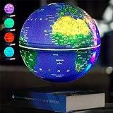 Living Equipment Adorno de globo de levitación magnética de 8 pulgadas Globo terráqueo flotante antigravedad Mapa del mundo con base para la decoración de la oficina en el hogar Regalo para niños C Gl