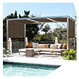 HAHA Telas para toldosMalla De Sombreo, Toldo De Protector Solar Encriptado Engrosado Al 95%, Utilizado para Techar Piscina Jardín Aislamiento Térmico Red, Marrón(Size:0.9x5m)
