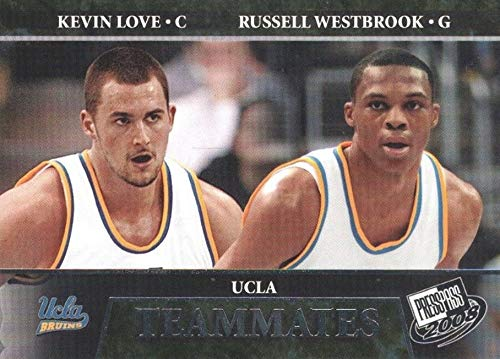2008-09 Press Pass - Russell Westbrook & Kevin Love - UCLA Bruins TEAMMATES - Basketball Rookie Card - RC Card #56
