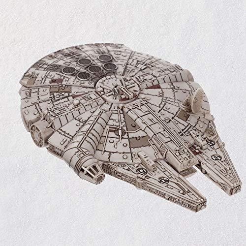 Hallmark Keepsake Christmas Ornament 2018 Star Wars Millennium Falcon With Light and Sound,
