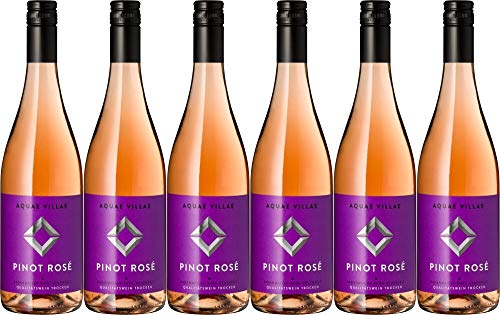 6x Pinot Rose trocken Aquae Villae 2019 - WG Britzingen Markgräflerland eG, Baden - Rosé