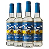 Torani Sugar Free Syrup, Sweetener, 25.4 Ounces (Pack of 4)