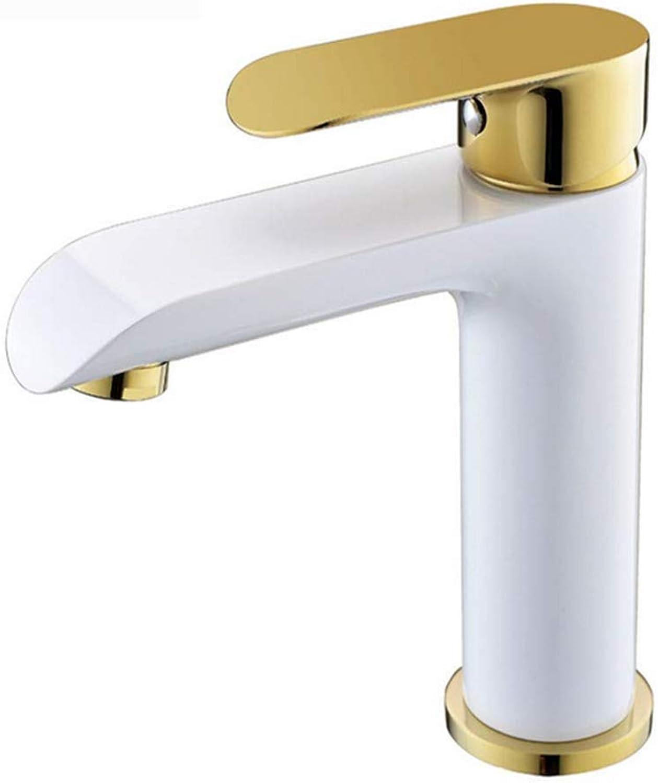 Chrome-Plated Adjustable Temperature-Sensitive Led Faucetfaucet Bathroom Short Black Paint Basin Faucet Mixed gold-Plated Bathroom Basin Faucet