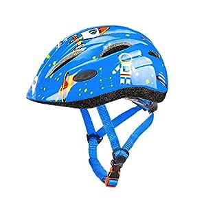 ヘルメット こども用 通気性 スポーツヘルメット 自転車のスケートボードとスクーターは、子供から青少年までサイズ調整ができます。年齢3-7は快適で、超軽量子供用ヘルメットの男の子と女性に適用されます。 (青)
