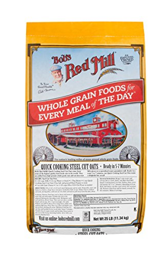Bob's Red Mill Quick Cooking Steel Cut Oats, 25 Pound