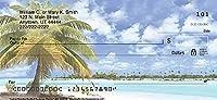 Bradford Exchange トロピカルパラダイス トップ ティア プリント 個人小切手 落ち着いたビーチテーマ - 注文チェックは安くて簡単! 2 Boxes Duplicates - 200 Checks