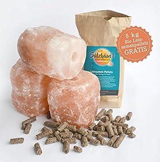 Salzleckstein Typ Himalaya 6 St ca 3 kg Mineralleckstein Leckstein Viehsalz
