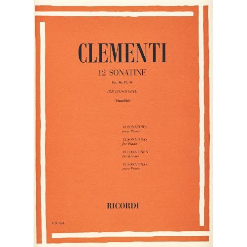 12 Sonatine Op. 36, 37, 38 Per Pianoforte
