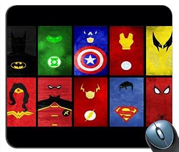 Superhero s United Superman SPiderman Batman Mouse Pad