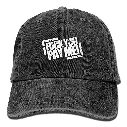 Hoswee Unisex Kappe/Baseballkappe, Fuck You Pay ME Adult Adjustable Cowboy Dad Hats