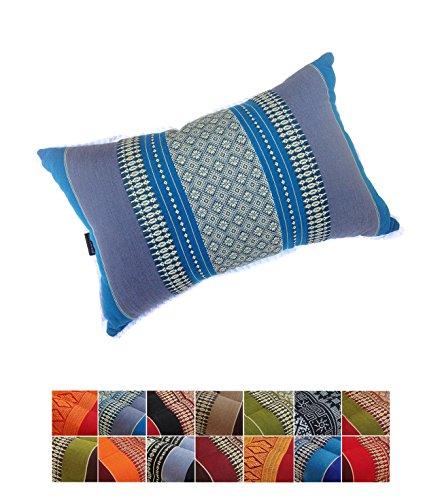 Tradicional almohada tailandesa de ceiba para yoga y meditación, rectangular, gran tamaño 45x 28cm