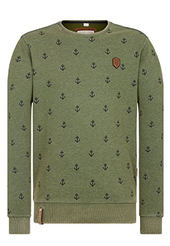 Naketano Male Sweatshirt Rise Of An Enemy Heritage Pine Green Melange, M