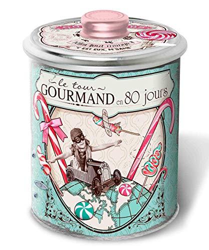 DV France Latta in Metallo Carillon con Biscotti Frollini 'Galettes' al Fior di Sale - 1 x 190 Grammi