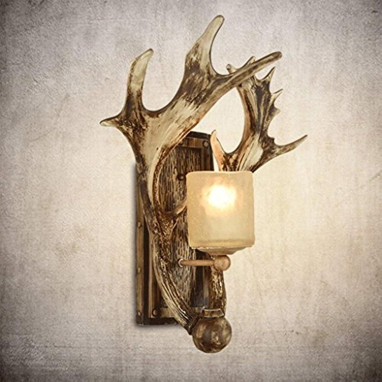 YAN Retro Wandleuchte Wohnzimmer Antler Lampe Gang Schlafzimmer Nachttischlampe Nordic Antler Wandleuchte