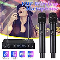 Professional UHF Wireless Microphone System 2 Chfor ANNEl 2 Cordless Handheld Mic Kraoke Speech Party supplies Microphone