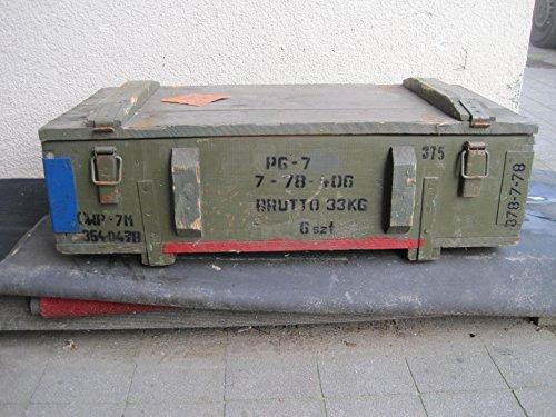 NVA Caja de madera mesa Shabby de Chick de Vintage cajón-estantería Militar Salón