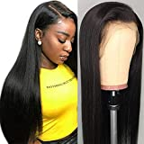 10A Perruque Bresilienne Straight Lace Front Wig Human Hair 150% densité Perruque Femme Naturelle Brésilien Cheveux humains Perruque 24inch(60,9cm)