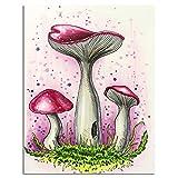 rmdfz Adultos y niños 5D DIY Diamante Pintura Dibujos Animados Setas Bordado Mosaico Punto de Cruz Pintura hogar o Color Arte Primavera 30 * 40cm Sin Marco