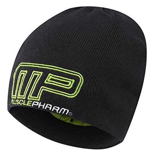MusclePharm Hommes MPHAT471 Bonnet tricoté Cap, Noir, Taille
