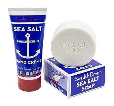 Swedish Dream Sea Salt Exfoliating Soap Bar with Sea Salt Hand and Body Lotion