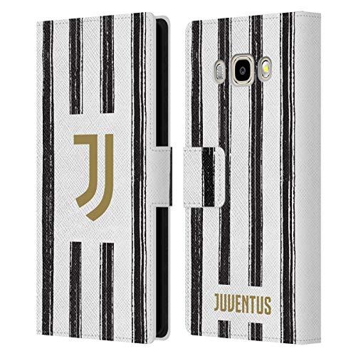 Head Case Designs Licenza Ufficiale Juventus Football Club in Casa 2020/21 Kit Abbinato Cover in Pelle a Portafoglio Compatibile con Samsung Galaxy J5 (2016)