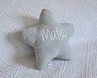 Cojín estrella para bebé personalizado. Un regalo original, decorativo y personalizado. Un bonito detalle para celebrar la...