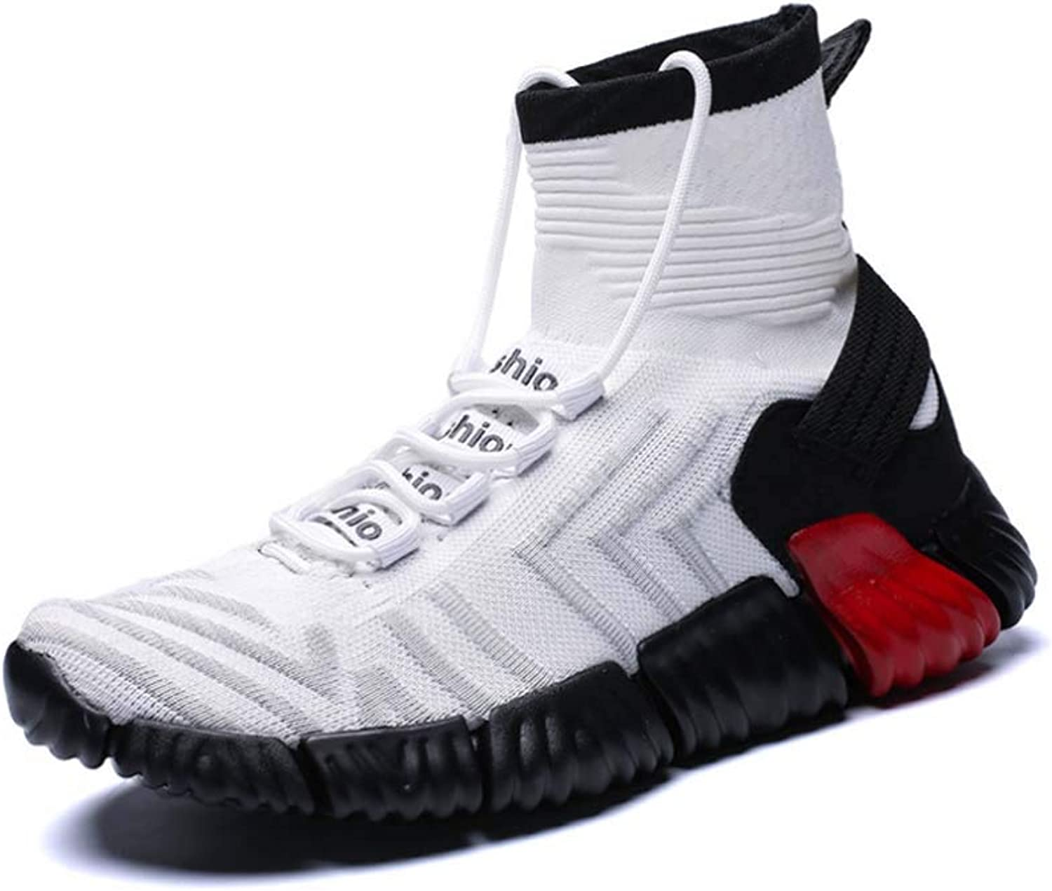 Men Sports shoes,Winter New Lightweight Flying Woven shoes Casual Increase Socks shoes Hi-Top Running shoes
