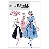 【Butterick】VeryEasy 50年代レトロデザインラップドレスの型紙セット サイズ:US8-10-12-14 *4790