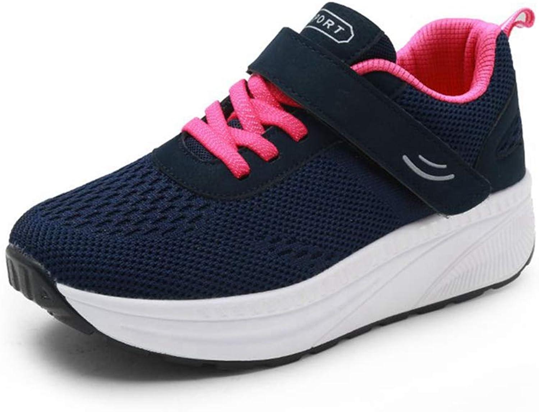 ASO-SLING Women Platform Wedges Sneakers Tennis Walking Sneakers Comfortable Lightweight Casual Fitness Swing shoes