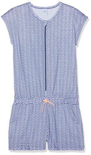 Sanetta Mädchen Overall Short Einteiliger Schlafanzug, Blau (Blueprint 50209), 128