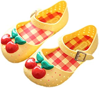 61f6ee54b3d iFANS Girls Pineapple Cherry Jelly Sandals Kids Mini Mary Jane Flats for  Toddler