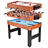 Globe House Products GHP 3-in-1 48.5'x22.7'x32.5' Convertible Air Hockey Foosball Billiard Game Table