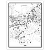 Leinwanddrucke,Kreative Schwarz Und Weiß Brasilia