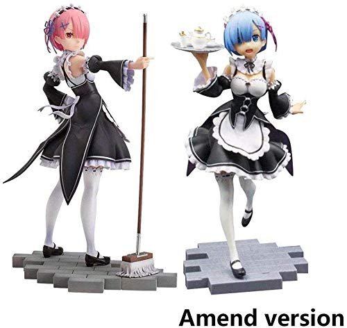 Toy Statues Re: Zero: Starting Life In Another World: Ram & Rem (Maid Version) PVC Figure - High 7.9 Inche 2 Pieces Anime Sets