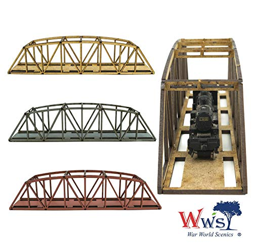 War World Scenics Einspurige Spur N Bogenbrücke 200mm (Farbe wählen) - Modellbahn Modellbau Modelleisenbahn Modell Diorama Layout Brücke Eisenbahn Bahnanlage