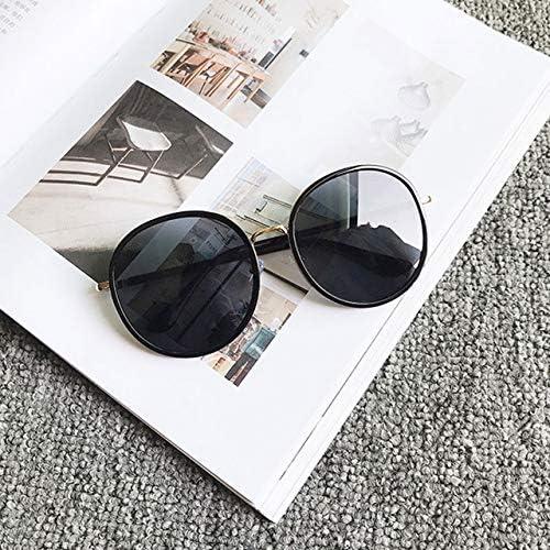 RJGOPL des lunettes de soleil Grandes lunettes rondes caixa clair oculos de sol feminino classique designer oculos vintage rétro lunettes surdimensionnées C2