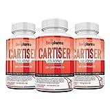 CARTISER - Colágeno + magnesio nº 1-3 botes 540 cápsulas - con Calcio. Silicio orgánico y Vitaminas C y D