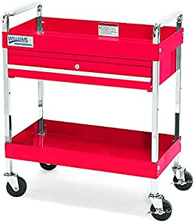 Williams 50723 2 Drawer 30-Inch Service Cart with Locking Drawer, Red