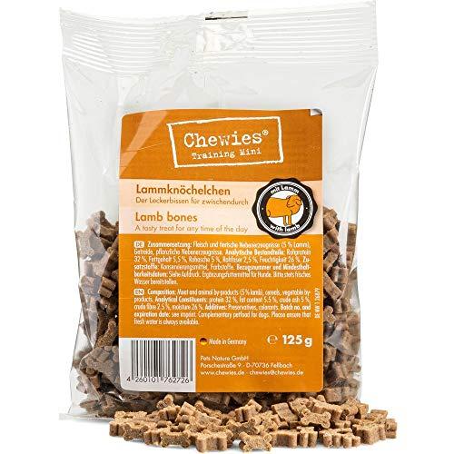 Chewies Hundeleckerli Pansen Knöchelchen - 125 g - Trainingsleckerli für Hunde - Fleisch Softies ohne Zucker - Hundesnacks mit hohem Fleischanteil