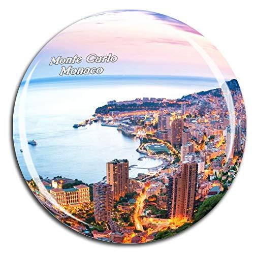 Weekino Monte Carlo Harbor Monaco Fridge Magnet 3D Crystal Glass Tourist City Travel Souvenir Collection Gift Strong Refrigerator Sticker