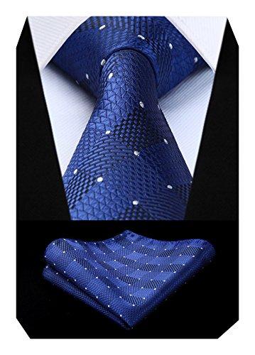 BIYINI BIYINI Herren Uberprufen Sie Krawatte Hochzeitsfeier Taschentuch Krawatte & Einstecktuch Set