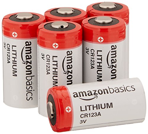 AmazonBasics Lithium CR123a 3 Volt Battery - Pack of 6 (Packaging may vary)