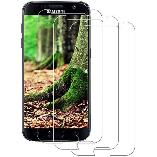 Aspiree Verre Trempé pour Samsung Galaxy S7, 3 Pièces, Film De Protection pour Samsung Galaxy S7- Anti-Rayures - HD - Ultra Resistant Dureté 9H - sans Bulles