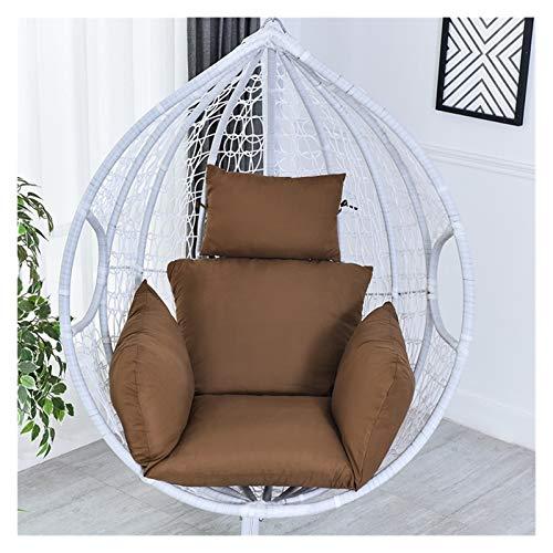 Rowe Cojín de asiento para silla de huevo, cojín para colgar en la silla, cojín de columpio, extraíble y espesante, cojín de respaldo para silla de oficina, apoyo lumbar