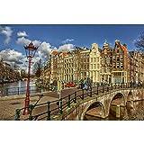 Puzzles Rompecabezas De Madera, Amsterdam Canal-Art DIY Juego De Ocio Diversión Juguete Regalo Adecuado Familia Amigos, 500/1000/1500/2000/3000 Piezas 0706 (Color : A, Size : 3000 Pieces)