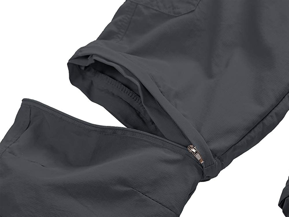 Hiking Camping Zip Off Convertible Trousers Kids Boys Girls Youth Outdoor Quick Dry Lightweight Cargo Pants