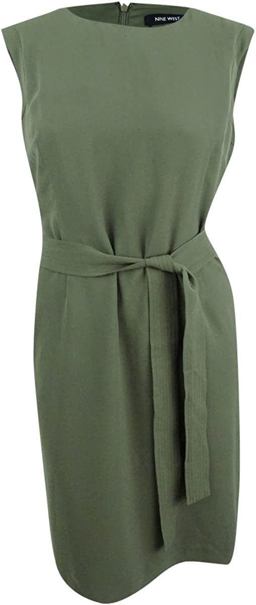 NINE WEST Women's Self Tie Dress